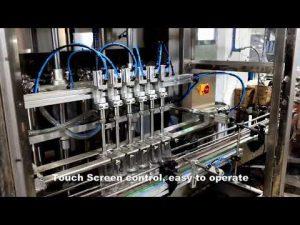 otomatis 6 kepala mengeluarkan garis mesin pengisi cair deterjen klorin