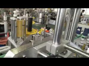 mesin pelabelan stiker perekat diri plastik dan botol kaca otomatis