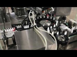 obat tetes mata mengisi mesin capping untuk 20 ml botol kecil